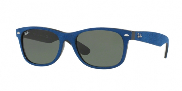 RAY-BAN RB2132 NEW WAYFARER BLACK/TOP BLUE ALCANTARA