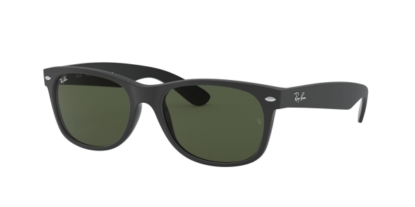 RAY-BAN RB2132 NEW WAYFARER TOP RUBBER BLACK ON SHINY BLK