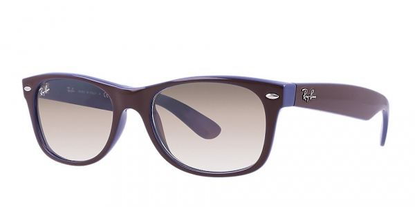 RAY-BAN RB2132 NEW WAYFARER TOP BROWN ON BLUE CRYSTAL BROWN GRADIENT f203774381c2
