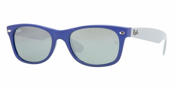18bd87d50e3ad RAY-BAN New Wayfarer RB2132 801 40 DARK BLUE CRYSTAL GRAY MIRROR