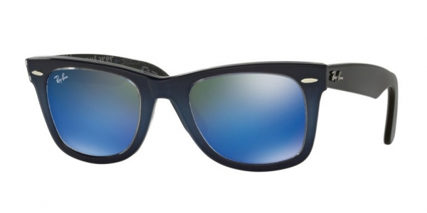 Ray-Ban Wayfarer Lunettes de soleil - top grad grey on blue ZqaUoII