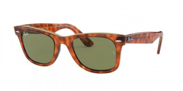 RAY-BAN RB2140 ORIGINAL WAYFARER LIGHT HAVANA ON TRASP YELLOW