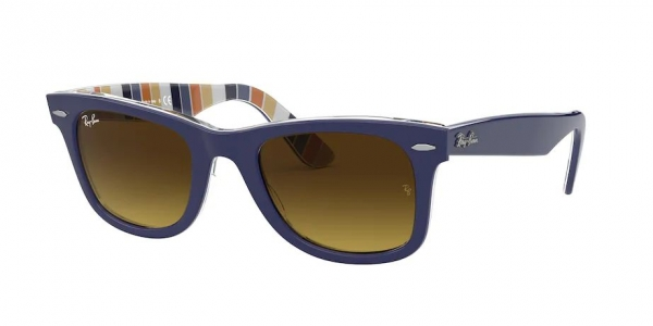 RAY-BAN RB2140 ORIGINAL WAYFARER BLUE ON STRIPES ORANGE/BLUE