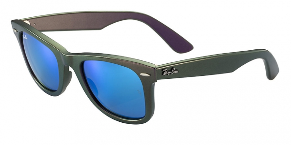 RAY-BAN RB2140 ORIGINAL WAYFARER COSMO COLLECTION METALLIC VIOLET GREY MIRROR BLUE - SATURN