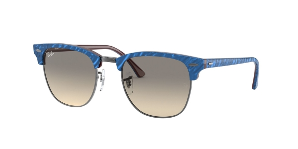 RAY-BAN RB3016 CLUBMASTER TOP WRINKLED BLUE ON BROWN