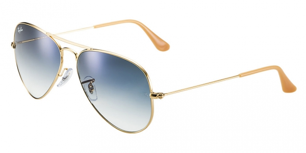 ray ban rb3025 aviator large metal  ray ban rb3025 aviator large metal arista/crystal white grad. blue