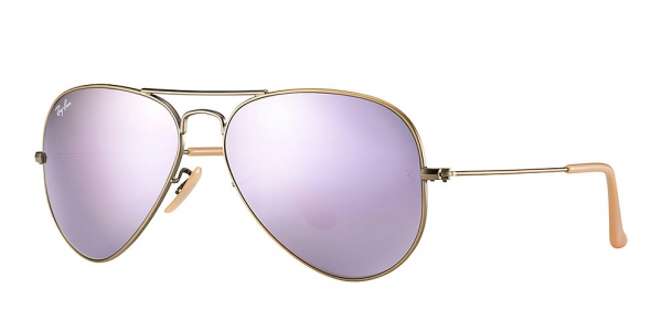 639aaf652a RAY-BAN Aviator Large Metal RB3025 167 4K BRUSHED BRONZE LILAC MIRROR