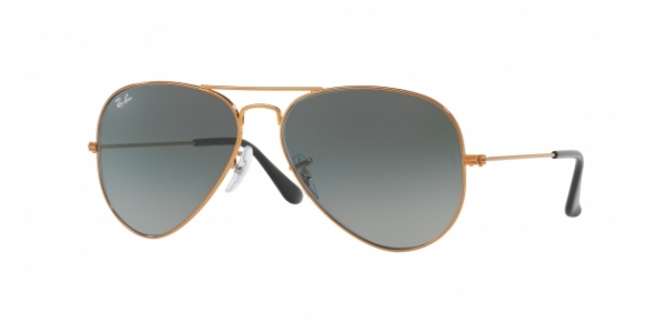 RAY-BAN RB3025 AVIATOR LARGE METAL SHINY BRONZE
