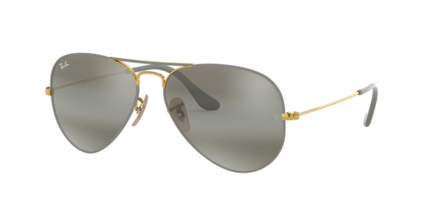 RAY-BAN RB3025 AVIATOR LARGE METAL GOLD ON TOP MATTE GREY