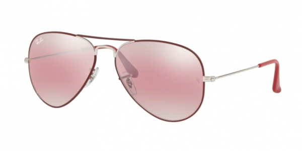 7d9e75de3de4d RAY-BAN RB3025 AVIATOR LARGE METAL SILVER ON TOP MATTE BORDEAUX