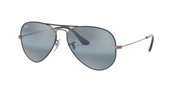 905614011c2 RAY-BAN Aviator Large Metal RB3025 9156AJ COPPER ON MATTE DARK BLUE