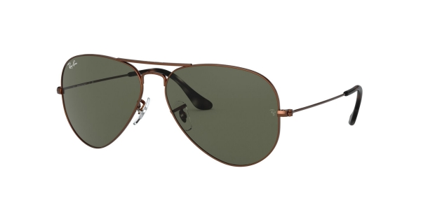 RAY-BAN RB3025 AVIATOR LARGE METAL SAND TRASPARENT BROWN