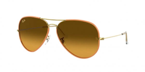RAY-BAN RB3025JM AVIATOR FULL COLOR YELLOW ON LEGEND GOLD