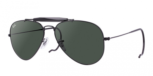 RAY-BAN RB3030 BLACK CRYSTAL GREEN