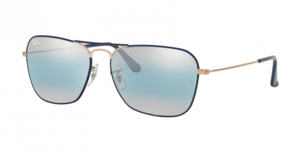 c48dd04d19ce7 RAY-BAN Caravan RB3136 9156AJ COPPER ON TOP MT DK BLUE