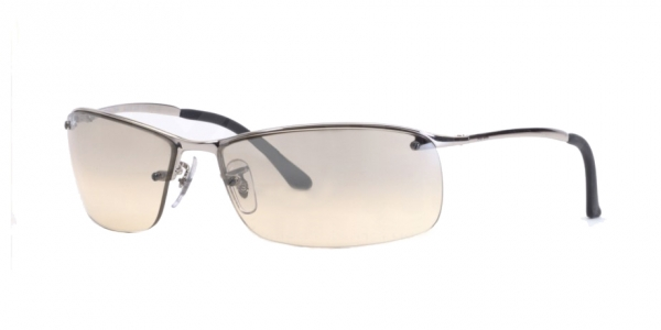 RAY BAN RB3183 TOP BAR SILVER BEIGE SILVER MIRROR GRADIENT