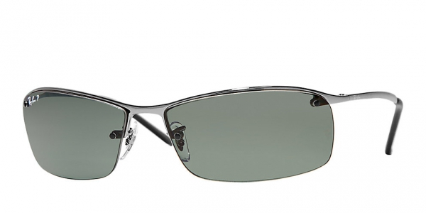 Incroyable RAY BAN RB3183 TOP BAR GUNMETAL/GREEN POLARIZED