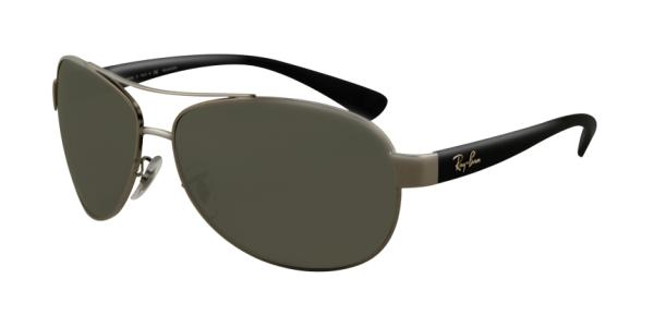 4741e0c15b RAY-BAN RB3386 004 9A GUNMETAL POLAR GREEN