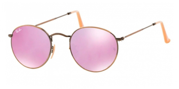RAY-BAN RB3447 ROUND METAL DEMIGLOS BRUSCHED BRONZE