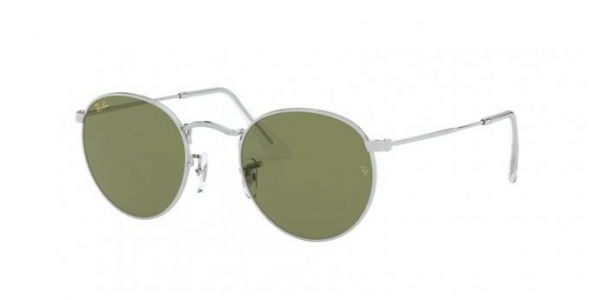 RAY-BAN RB3447 ROUND METAL SILVER