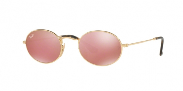 RAY-BAN RB3547N OVAL GOLD