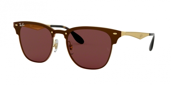 RAY-BAN BLAZE CLUBMASTER RB3576N BRUSHED GOLD