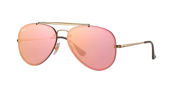 RAY-BAN BLAZE AVIATOR RB3584N GOLD