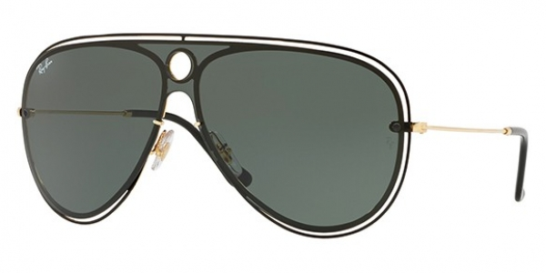 RAY-BAN BLAZE SHOOTER RB3605N TOP SHINY BLACK ON GOLD