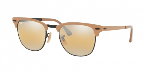 RAY-BAN RB 3716 CLUBMASTER METAL BLACK ON TOP MATTE BEIGE