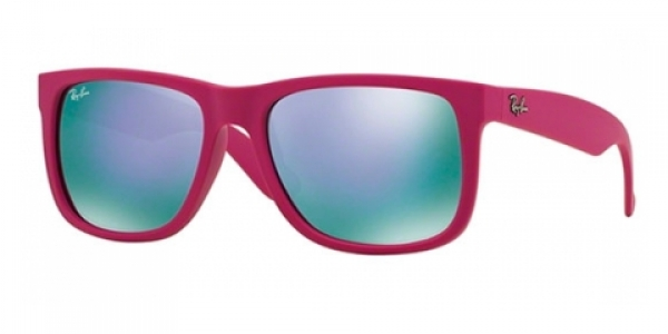165c7a0aa RAY-BAN RB4165 JUSTIN RUBBER FUCHSIA GREY MIRROR VIOLET