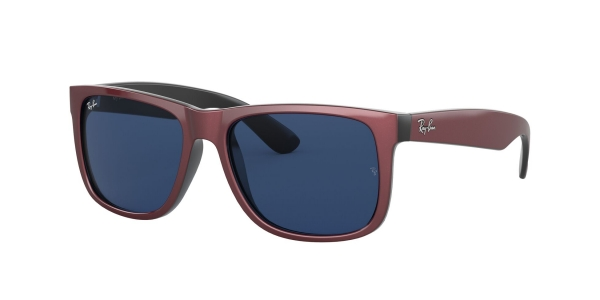 RAY-BAN RB4165 JUSTIN BORDEAUX METALLIC ON BLACK