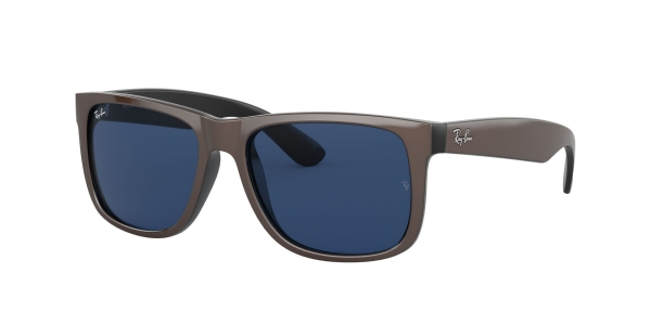 RAY-BAN RB4165 JUSTIN BROWN METALLIC ON BLACK
