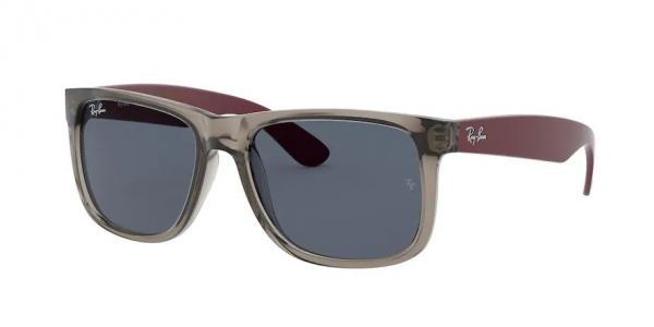 RAY-BAN RB4165 JUSTIN RUBBER TRANSPARENT GREY