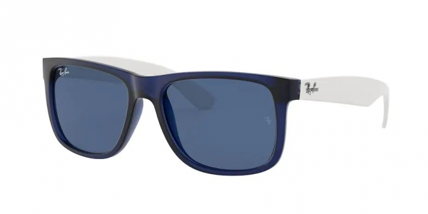 RAY-BAN RB4165 JUSTIN RUBBER TRANSPARENT BLUE