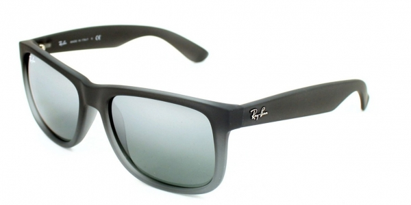 Ray Ban Justin RB4165 852/88 54 rubber grey transparent / grey silver mirror rAWMex0e3j