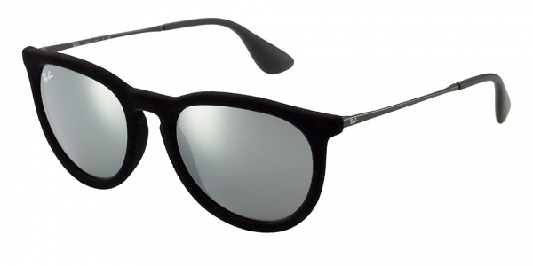 df3e3bbff72 RAY-BAN Erika RB4171 60756G VELVET BLACK GREY MIRROR SILVER