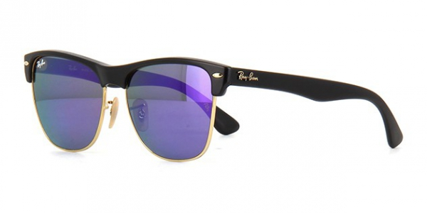 e7f0d95b77f RAY-BAN Clubmaster Oversized RB4175 877 1M DEMI SHINY BLACK
