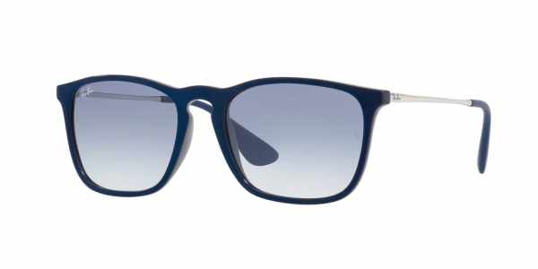 bb8d55e0f74 RAY-BAN Chris RB4187 631719 SHINY BLU MIRROR BLU