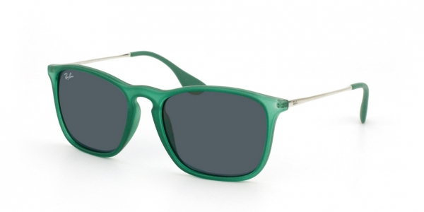 1c7a8774e8348 RAY-BAN Chris RB4187 897 87 RUBBER TRASPARENT GREEN GREY