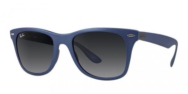 RAY-BAN RB4195 LITEFORCE WAYFARER BLUE GREY GRADIENT