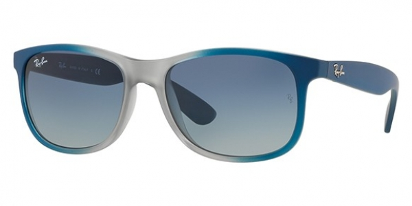 b6cd4d84b7982 RAY-BAN Andy RB4202 63704L GRAD BLUE RUBBER LIGHT GREY TR