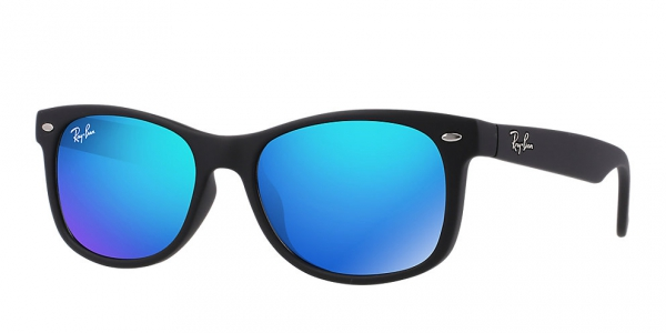 RAY-BAN JUNIOR RJ9052S MATTE BLACK BLUE MIRROR