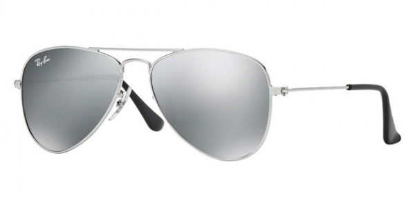 RAY-BAN JUNIOR JUNIOR AVIATOR RJ9506S SHINY SILVER SILVER MIRROR