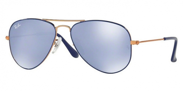 RAY-BAN JUNIOR JUNIOR AVIATOR RJ9506S COPPER TOP ON BLUE