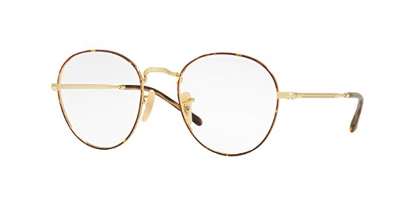 RAY-BAN ROUND METAL II RX3582V GOLD ON TOP HAVANA