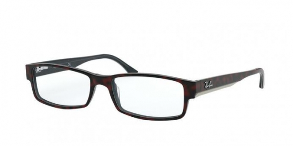 RAY-BAN RX5114 TOP RED HAVANA ON OPAL BLUE