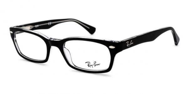 RAY-BAN RX5150 TOP BLACK ON TRANSPARE DEMO LENS