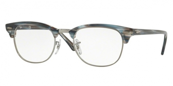 RAY-BAN RX5154 CLUBMASTER BLUE/GREY STRIPPED