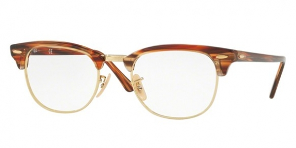 RAY-BAN RX5154 CLUBMASTER BROWN/BEIGE STRIPPED