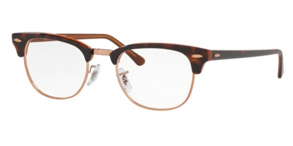 RAY-BAN RX5154 CLUBMASTER TOP HAVANA ON BROWN